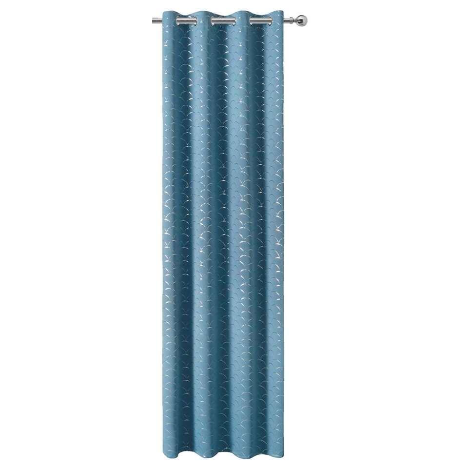 Gordijn Ariele - blauw - 280x140 cm (1 stuk) - Leen Bakker