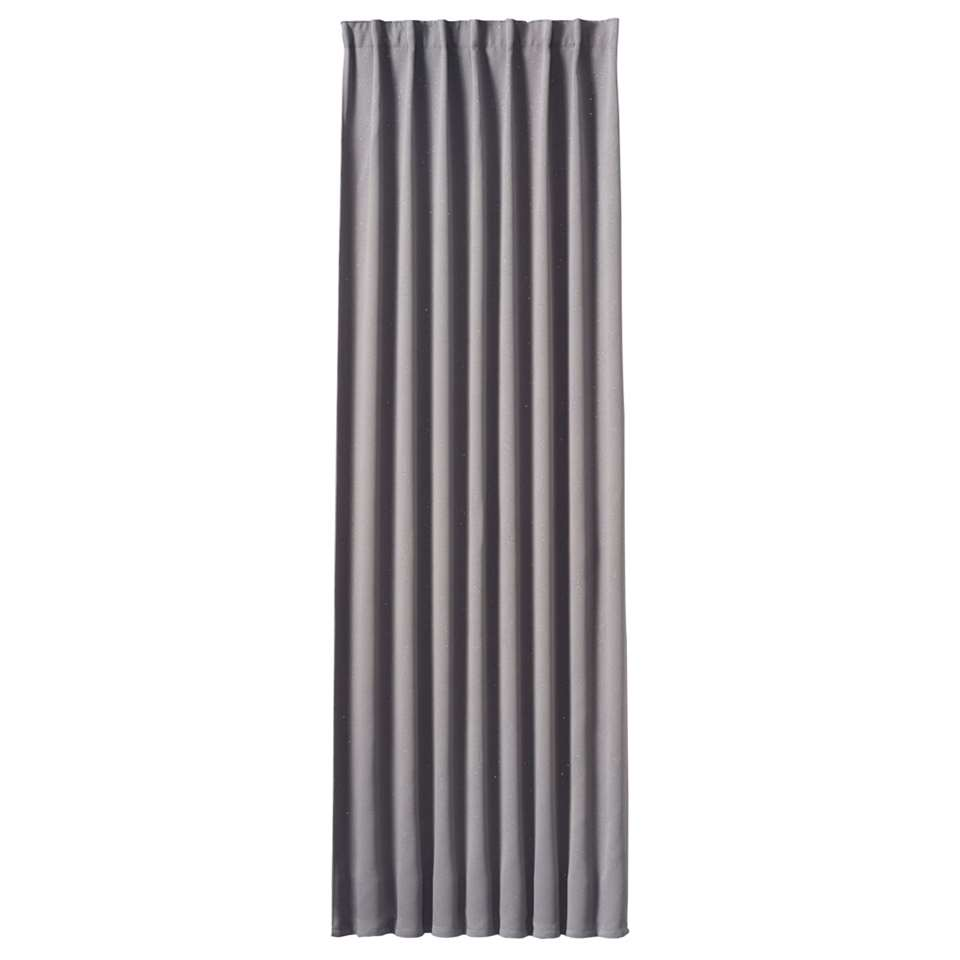 Gordijn Beau - grijs - 250x140 cm (1 stuk) - Leen Bakker
