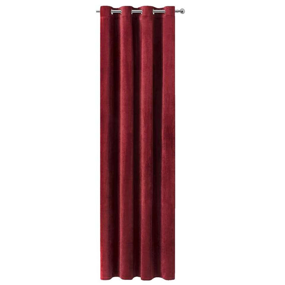 Gordijn Ruby - french velvet burgundy - 250x140 cm (1 stuk)