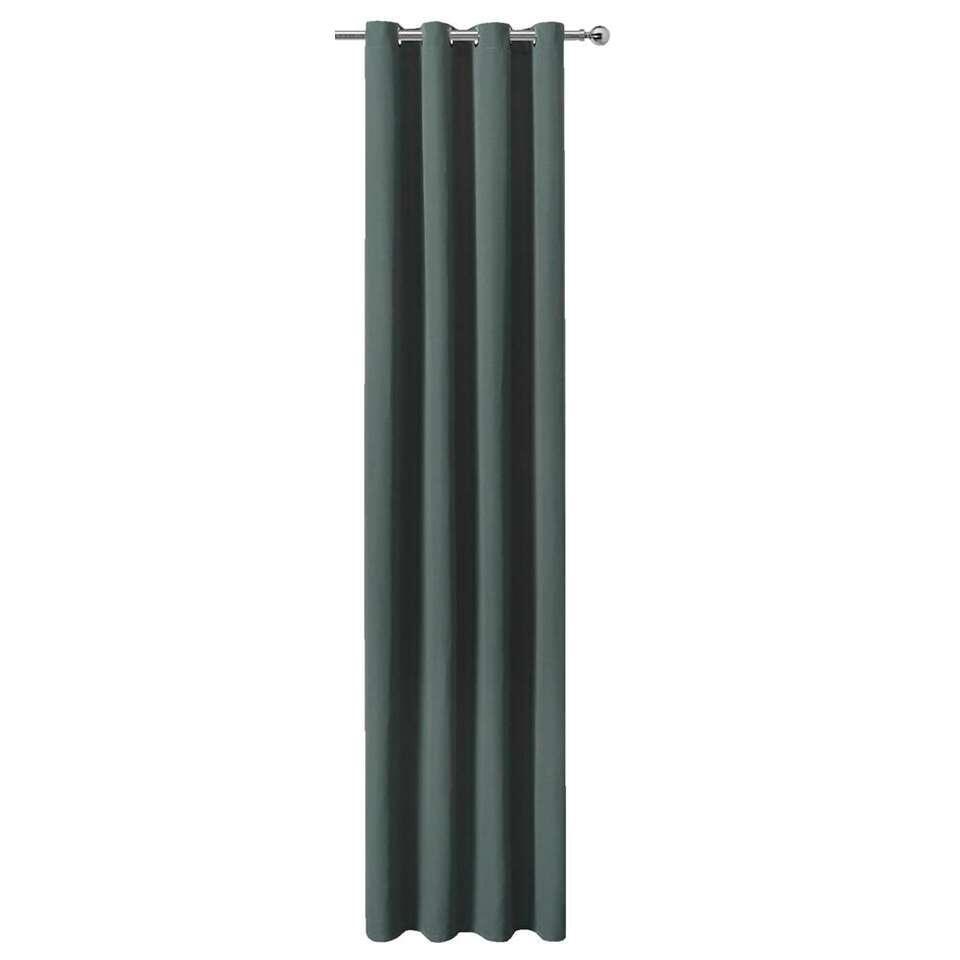 Gordijn Robin - legergroen - 280x140 cm (1 stuk)