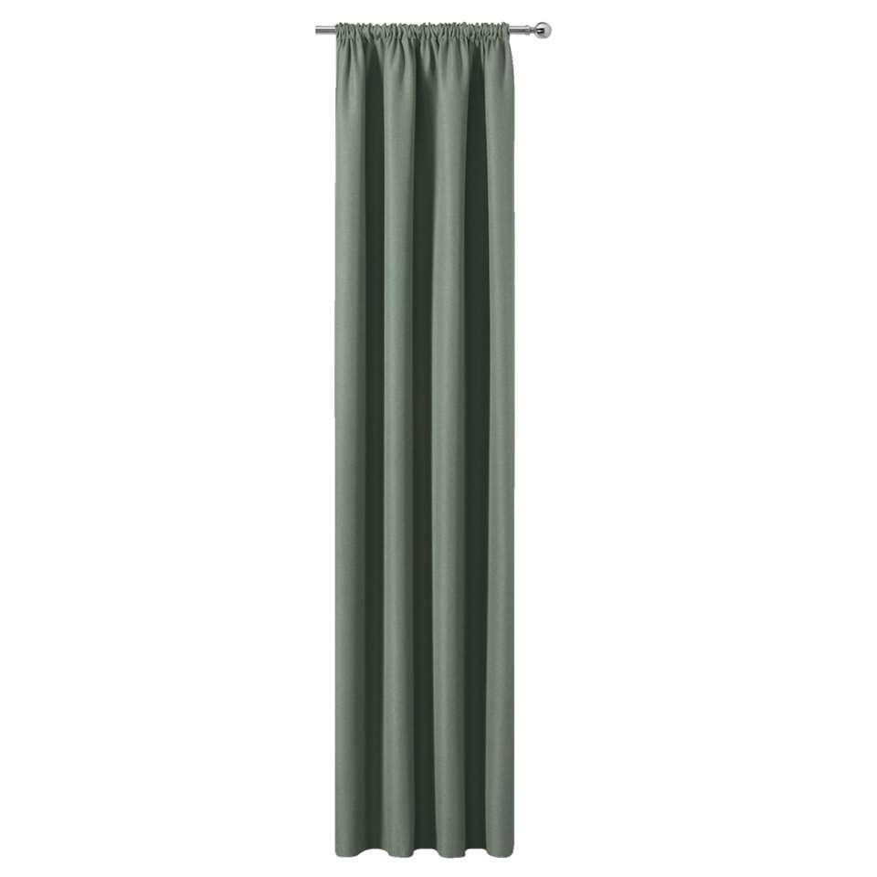 Gordijn Sam - groen - 280x140 cm (1 stuk)