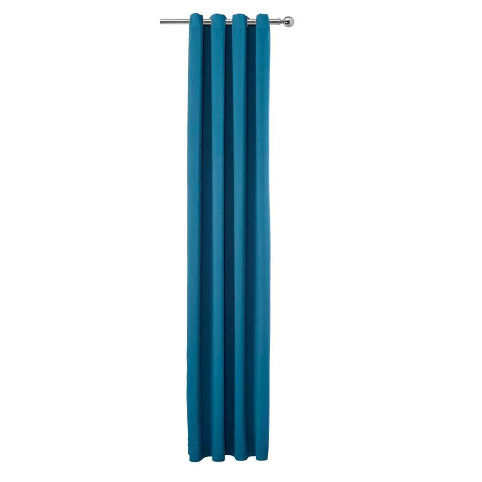 Gordijn Porto - inktblauw - 280x140 cm (1 stuk)