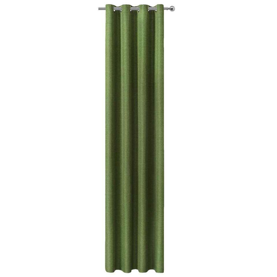 Gordijn Levi - groen - 250x140 cm (1 stuk) - Leen Bakker