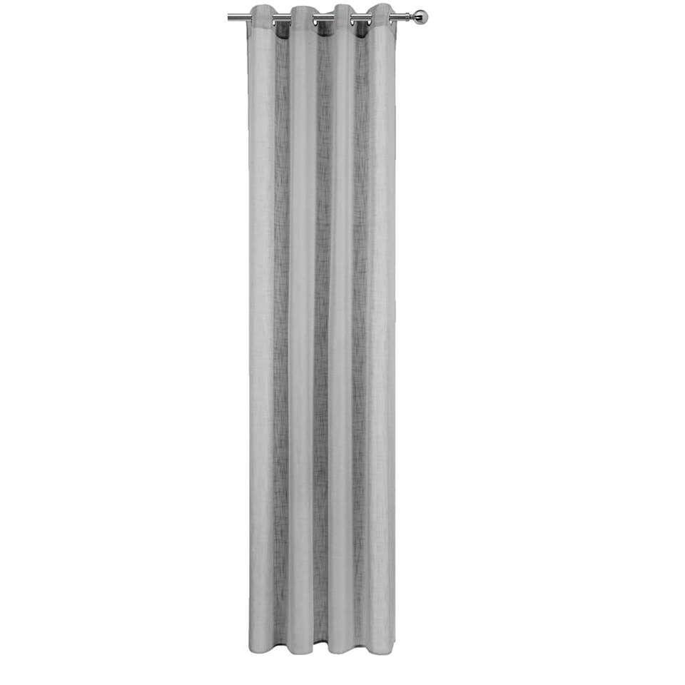 gordijn bremen grijs 280x135 cm 1 stuk leen bakker