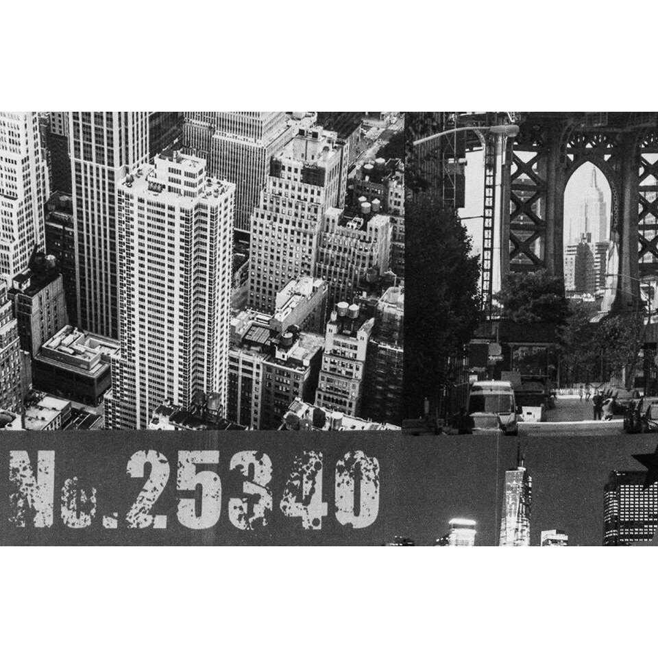 gordijn new york zwartwit 280x135 cm 1 stuk