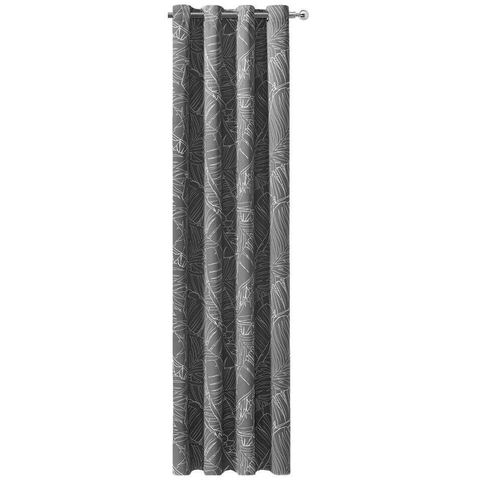 gordijn brisbane grijswit 250x135 cm 1stuk
