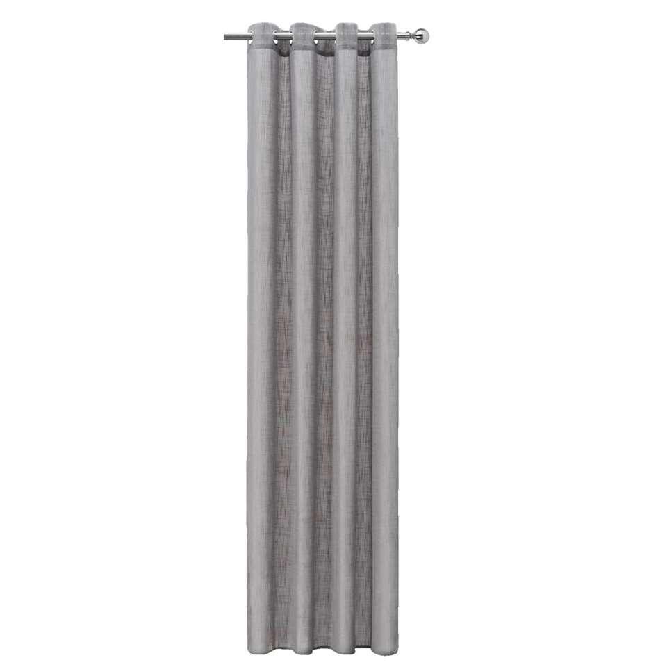 Gordijn Miami - grijs - 250x140 cm (1 stuk)