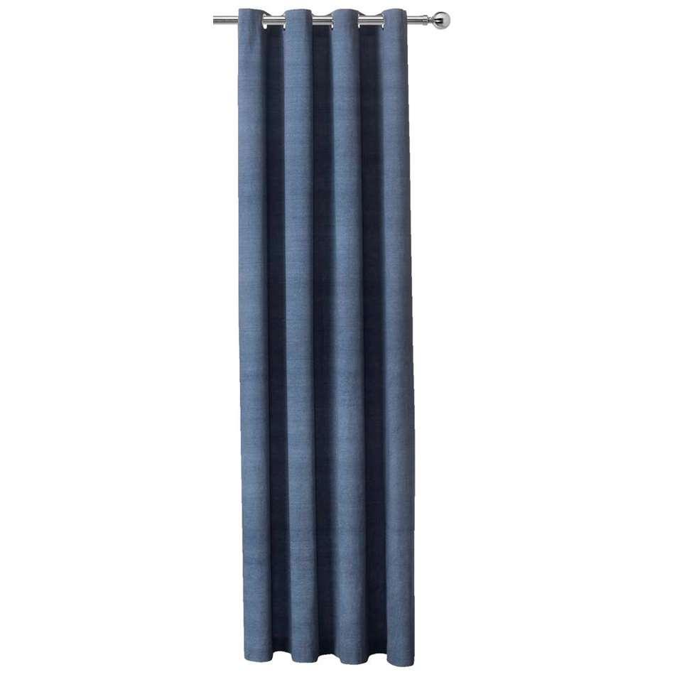 Gordijn Hugo - blauw - 250x140 cm (1 stuk)