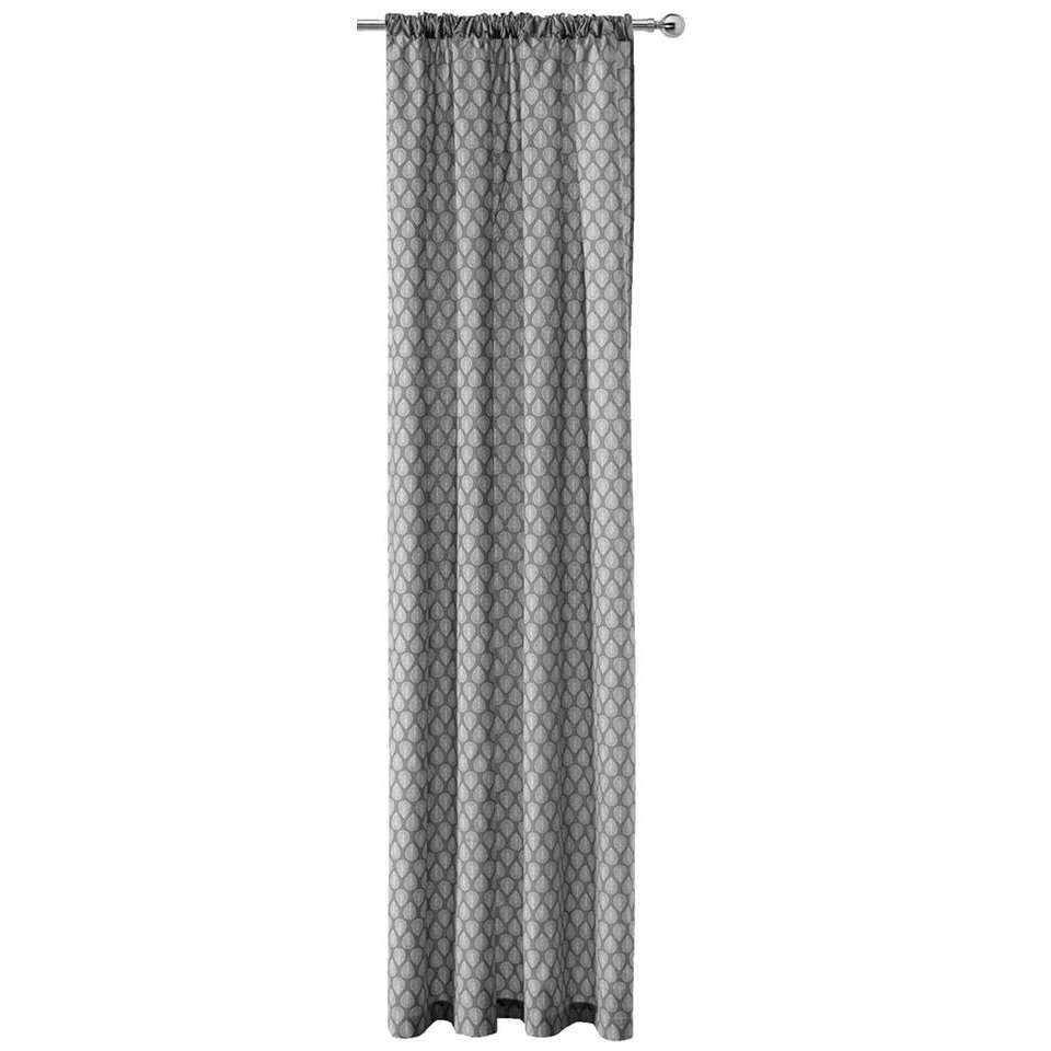 Gordijn Malmo - lichtgrijs - 250x140 cm (1 stuk) - Leen Bakker