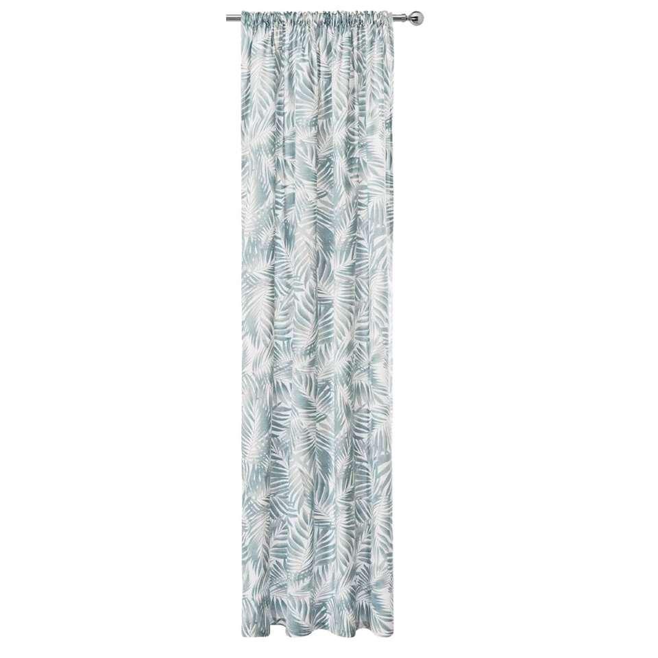 Gordijn Tahiti - wit/grijs - 250x140 cm (1 stuk)