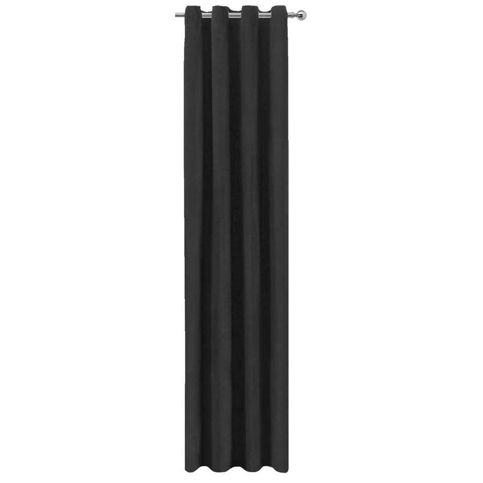 Gordijn Jesse zwart 250x140 cm 1 stuk Leen Bakker