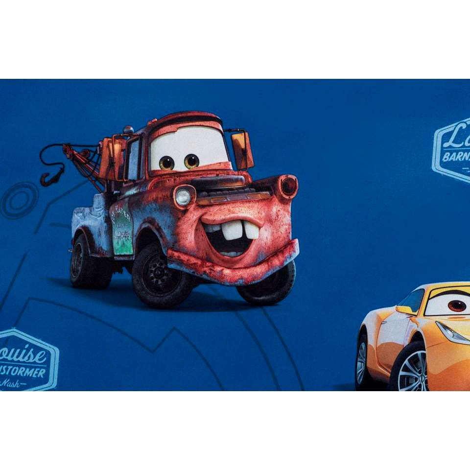 gordijn cars blauw 250x135 cm 1 stuk