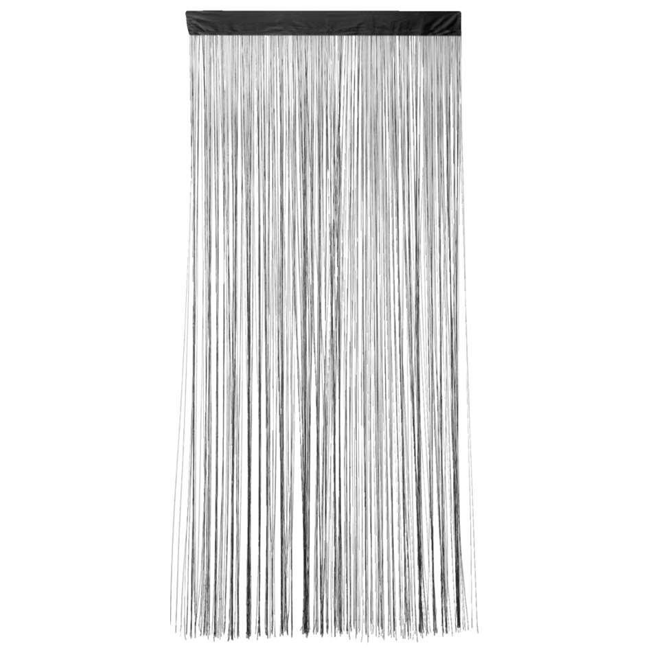 Met ditzwarte stringcurtain Lise zorg je voor een stijlvolle aankleding van bijvoorbeeld je woonkamer. Gebruik het gordijn als scheiding of afscherming. Het heeft een afmeting van 200 x 90 cm en is gemaakt van 100% polyester.