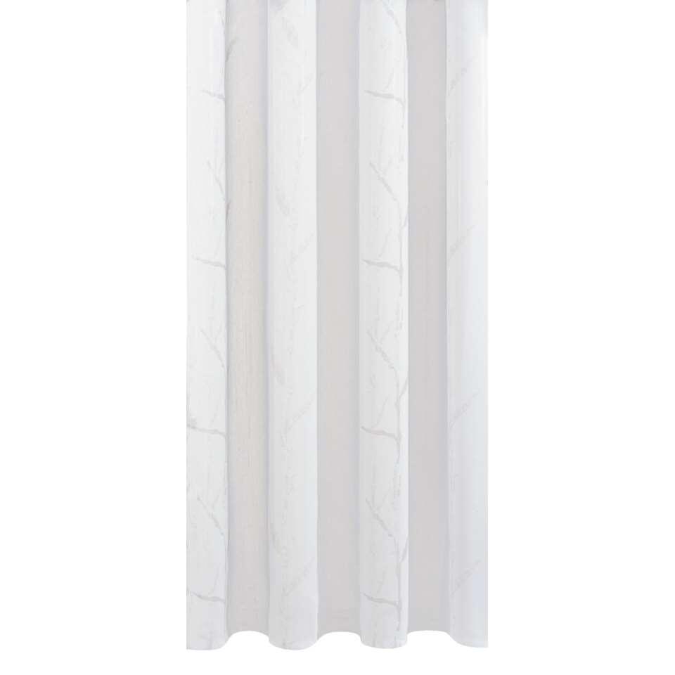 Vitrage Laura - wit/lichtgrijs - 295 cm