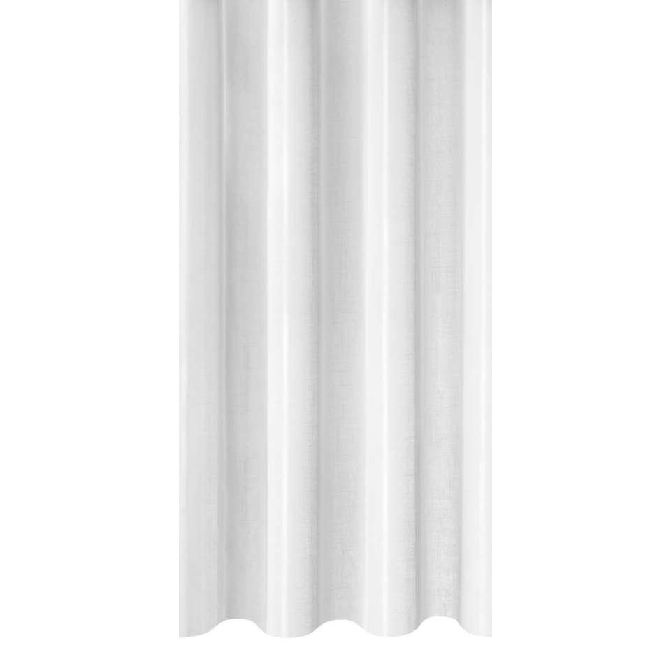 Vitrage Fenna - wit - 300 cm - Leen Bakker