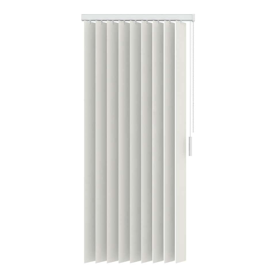 Verticale lamellen PVC verduisterend 89 mm - gebroken wit - 250x250 cm - Leen Bakker