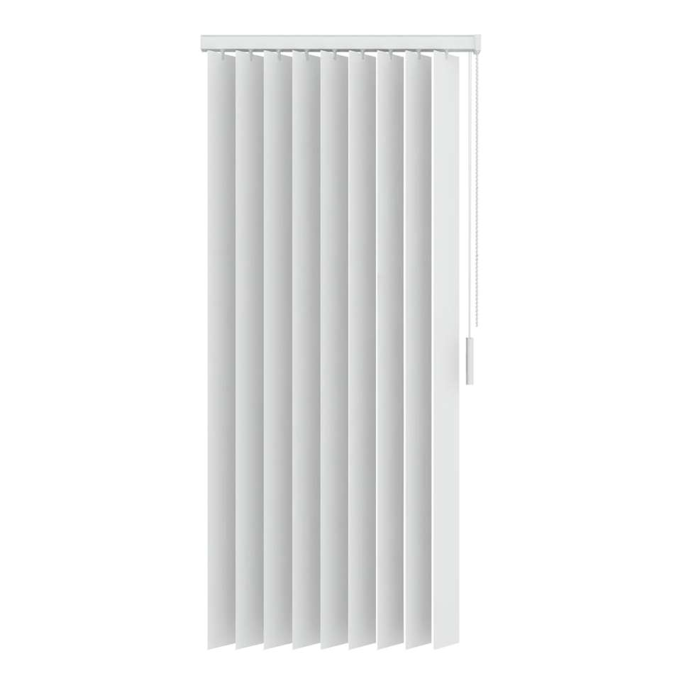 Verticale lamellen PVC verduisterend 89 mm - wit - 90x250 cm - Leen Bakker