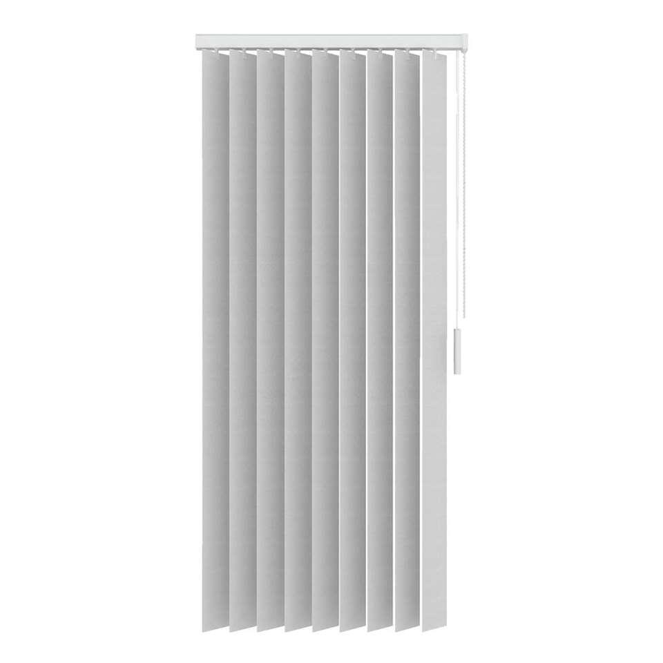 Stoffen verticale lamellen lichtdoorlatend 89 mm - wit - 150x180 cm