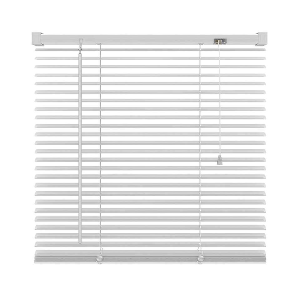 Basic horizontale jaloezie PVC - wit - 80x180 cm - Leen Bakker