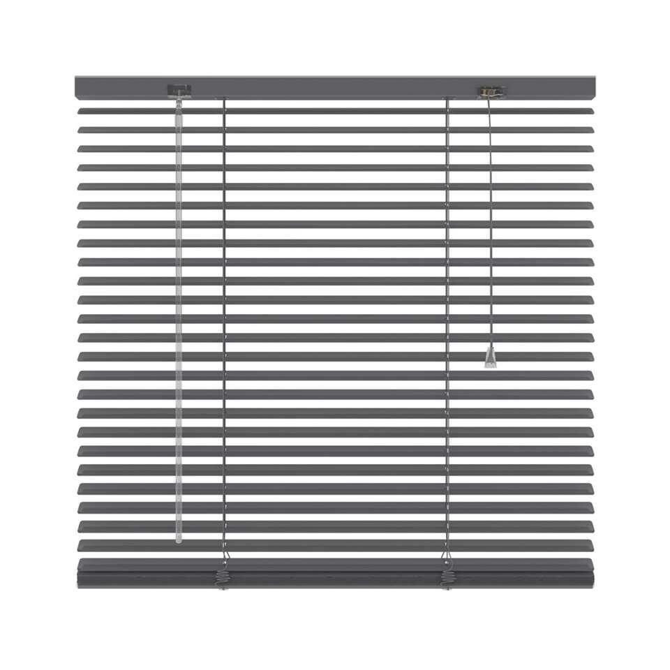 Basic horizontale jaloezie PVC - antraciet - 100x130 cm - Leen Bakker