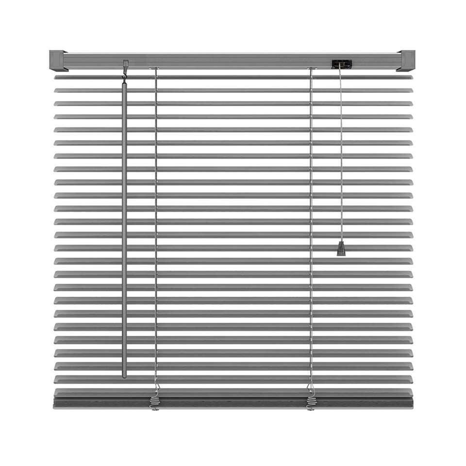 Basic horizontale jaloezie PVC - antraciet - 120x130 cm - Leen Bakker