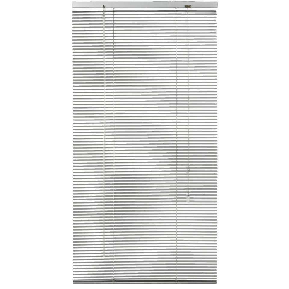 Horizontale jaloezie aluminium 16 mm – zilver – 60×130 cm – Leen Bakker