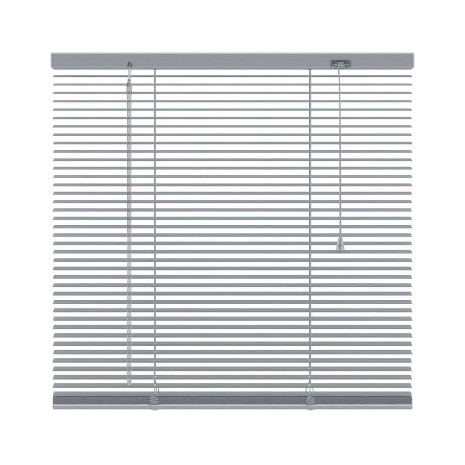 Horizontale jaloezie aluminium 16 mm – zilver – 160×250 cm – Leen Bakker
