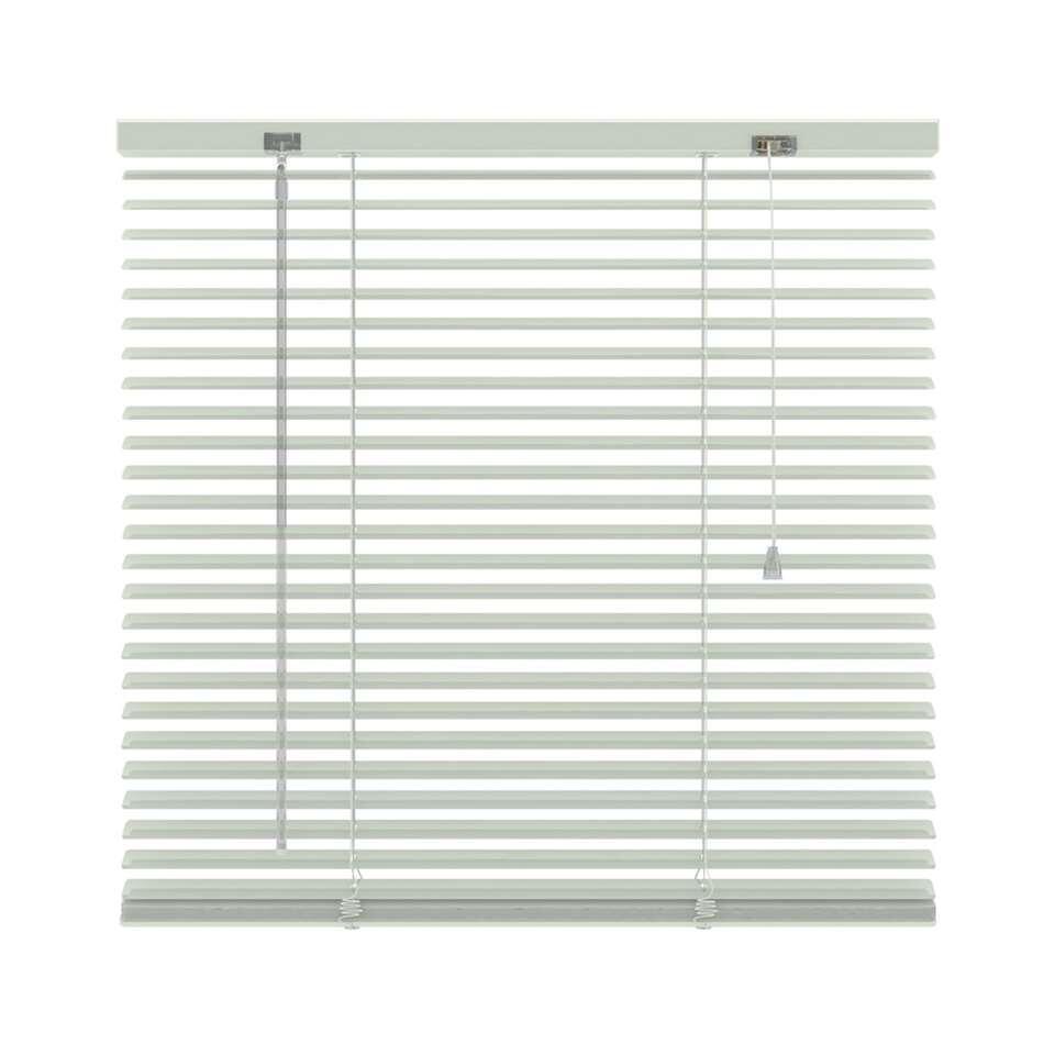 Horizontale jaloezie aluminium 25 mm - wit - 220x250 cm - Leen Bakker