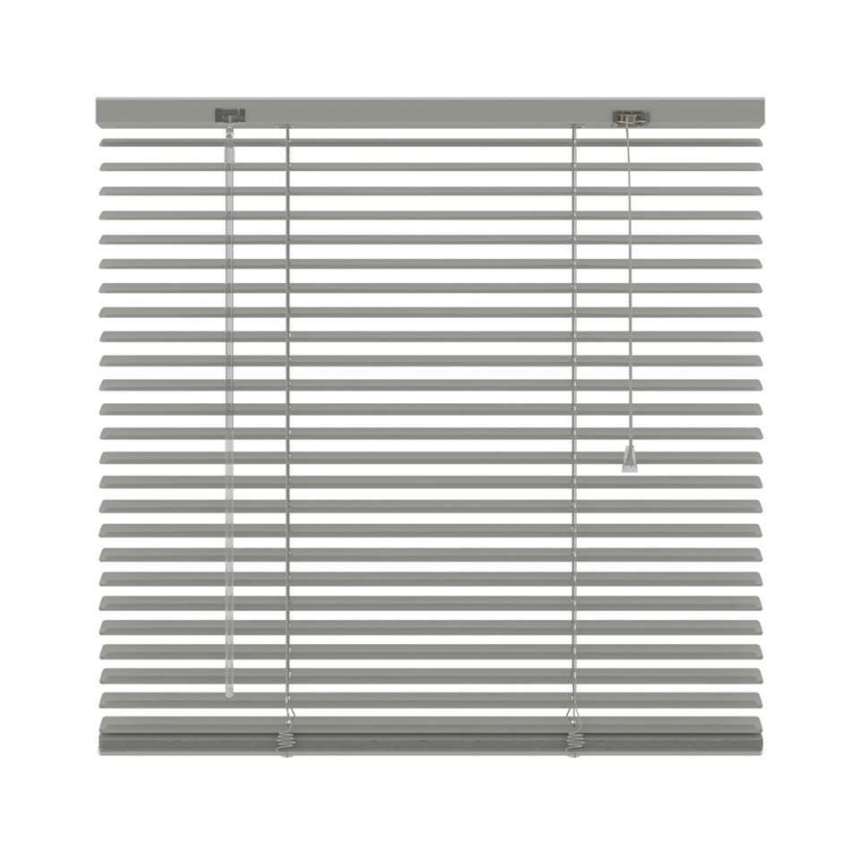 Horizontale jaloezie aluminium 25 mm - grijs - 80x250 cm - Leen Bakker