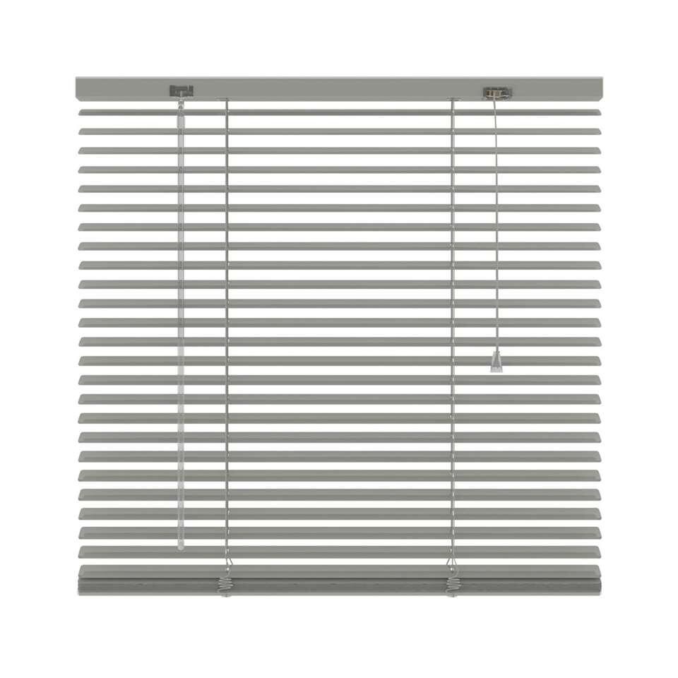 Horizontale jaloezie aluminium 25 mm - grijs - 220x250 cm - Leen Bakker