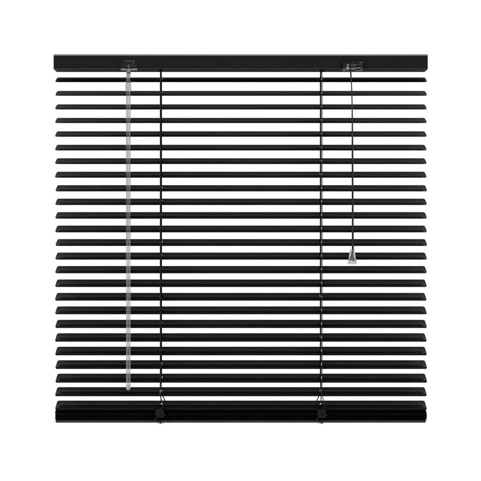 Horizontale jaloezie aluminium 25 mm – zwart – 60×250 cm – Leen Bakker