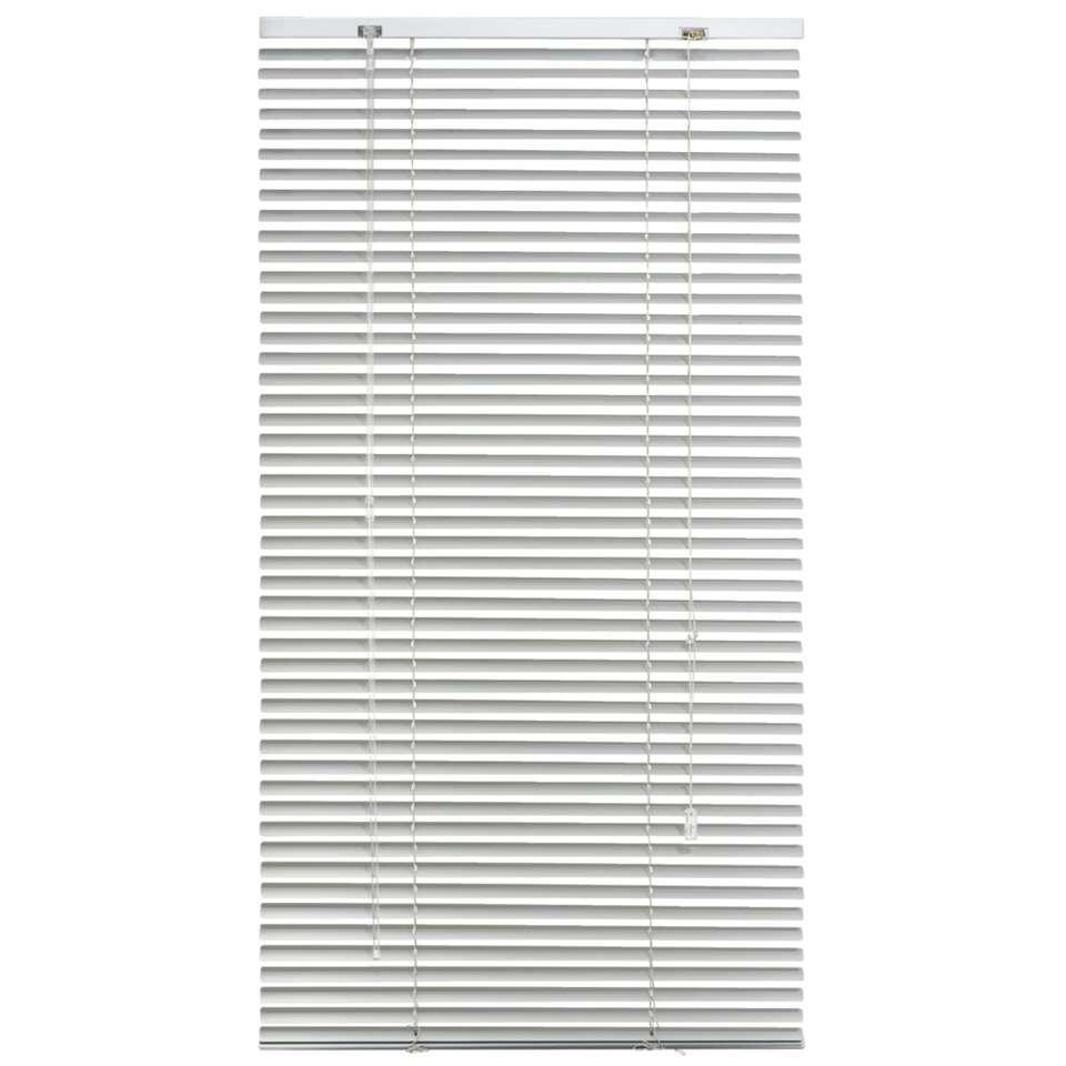 Jaloezie aluminium 25 mm - zilver - 60x130 cm
