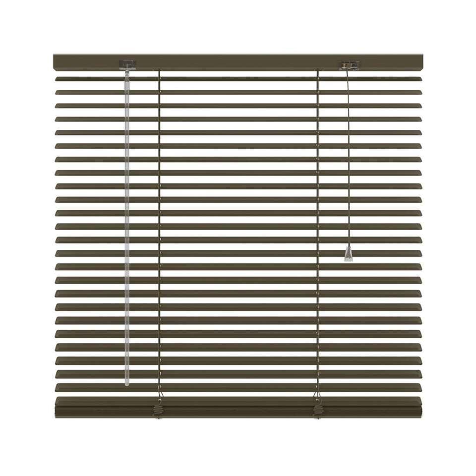 Horizontale jaloezie aluminium 25 mm – taupe – 180×180 cm – Leen Bakker