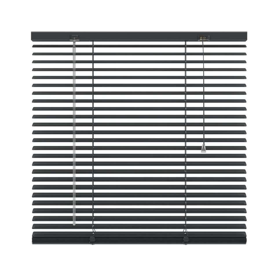 Horizontale jaloezie aluminium 25 mm – antraciet – 240×180 cm – Leen Bakker