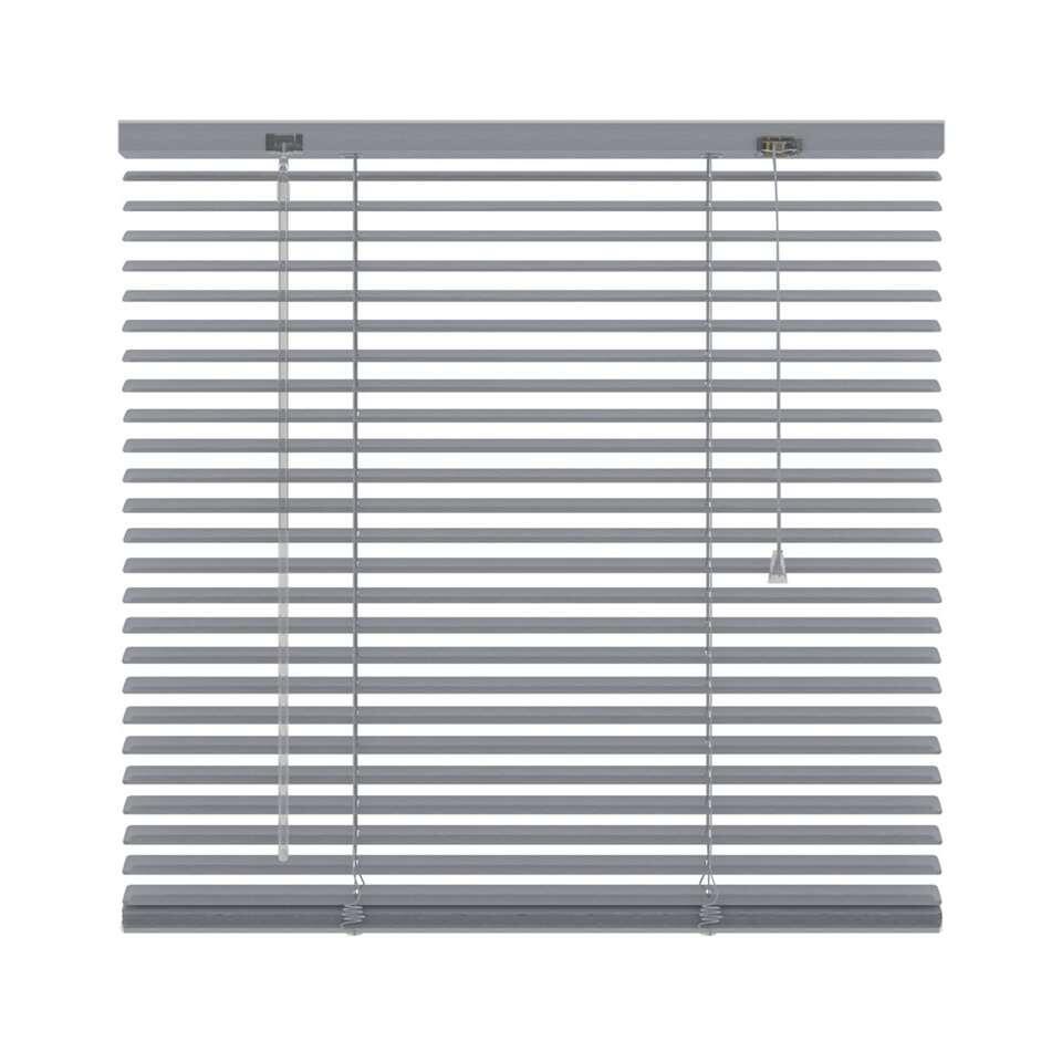 Horizontale jaloezie aluminium 25 mm - geperforeerd zilver - 140x180 cm - Leen Bakker
