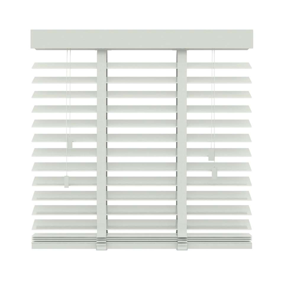 Store vénitien bois 50 mm - blanc - 60x220 cm