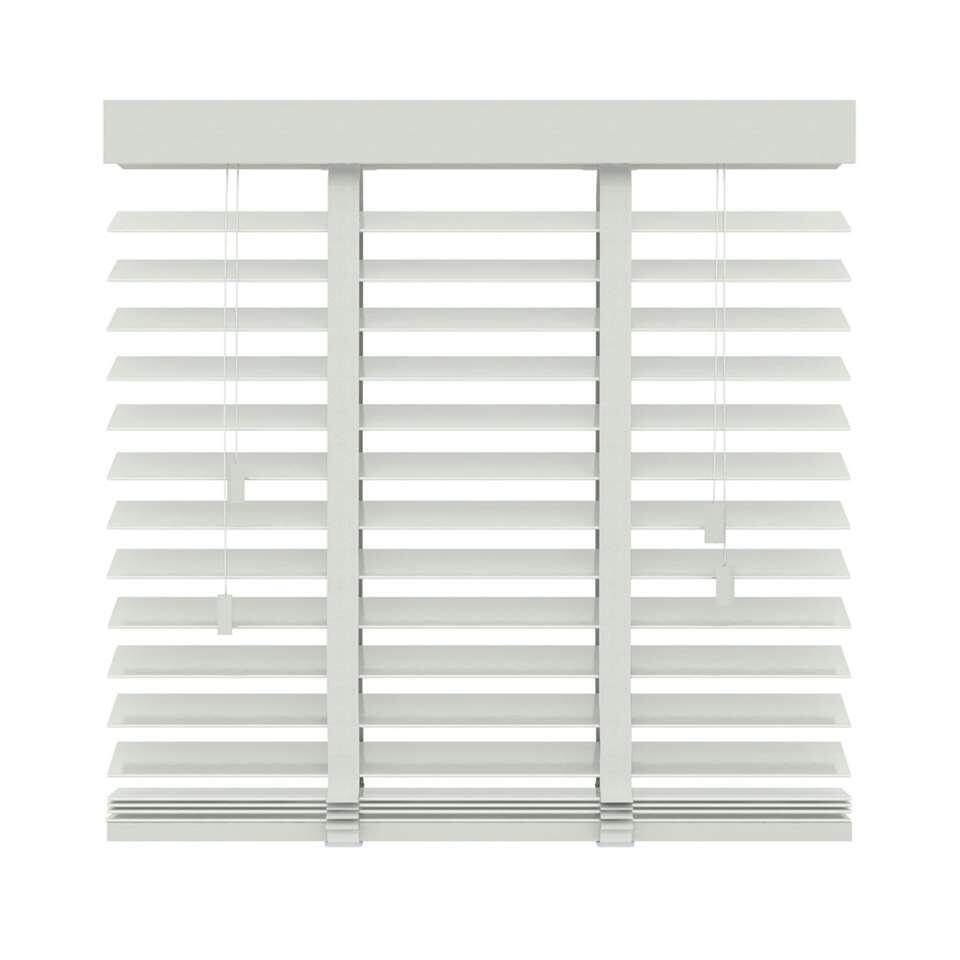 Store vénitien bois 50 mm - blanc - 140x220 cm