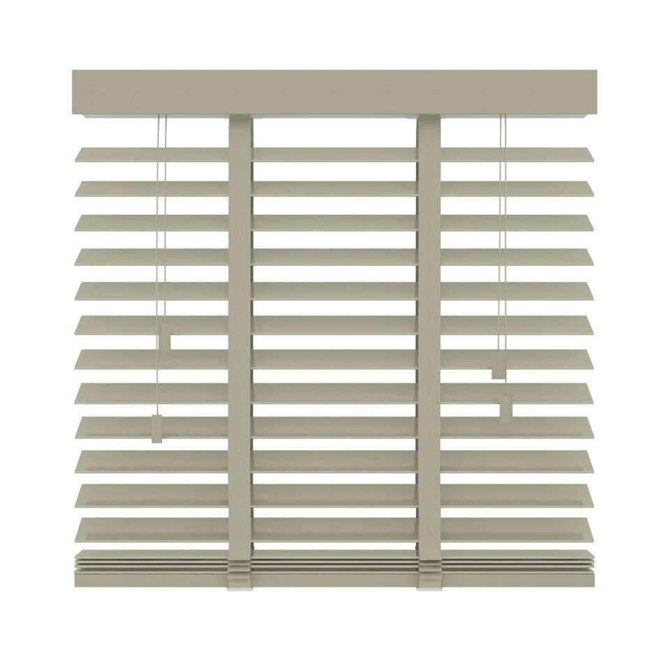 Horizontale jaloezie hout 50 mm – leem – 160×180 cm – Leen Bakker