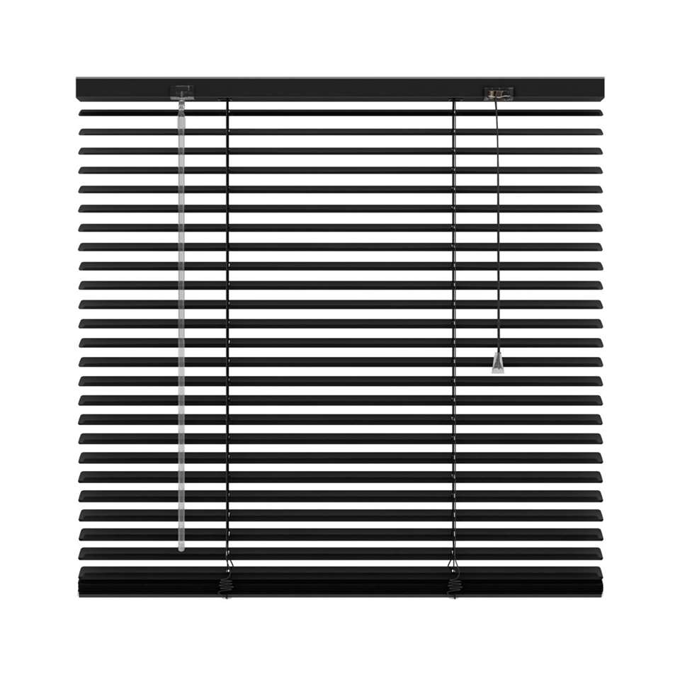 Jaloezie aluminium 25 mm - mat zwart - 220x250 cm