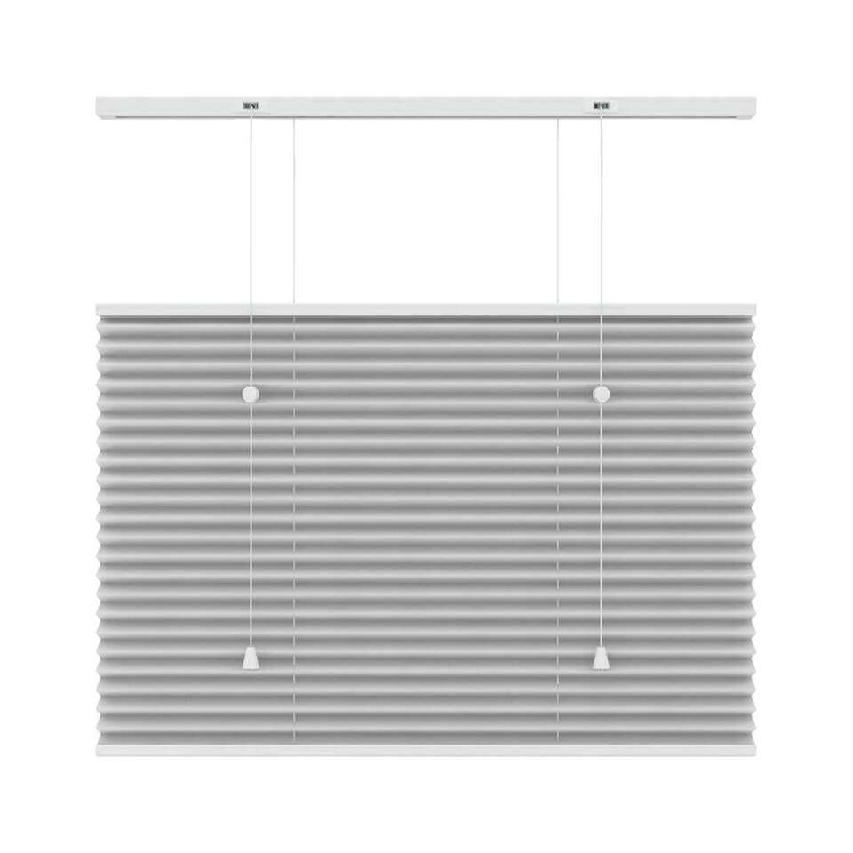 Plisségordijn lichtdoorlatend top-down bottom-up - wit - 100x180 cm