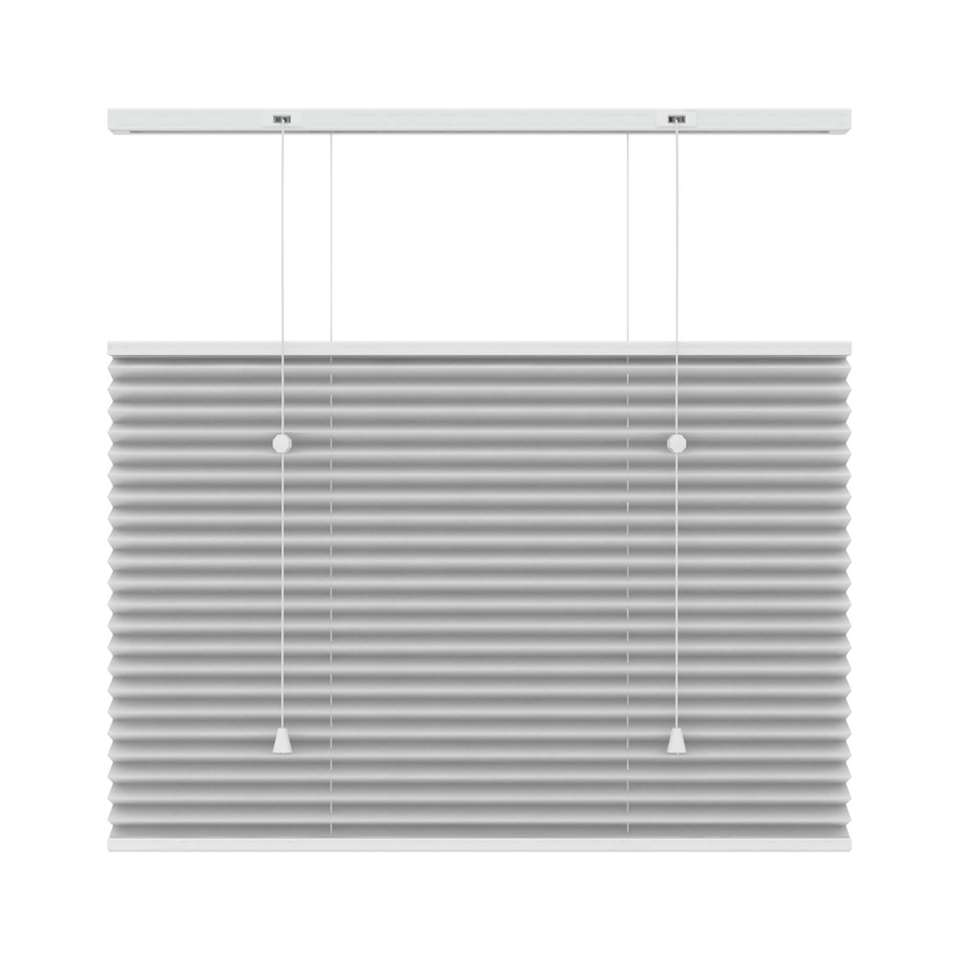 Plisségordijn lichtdoorlatend top-down bottom-up - wit - 120x220 cm