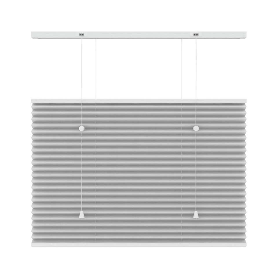 Plisségordijn lichtdoorlatend top-down bottom-up - wit - 140x220 cm