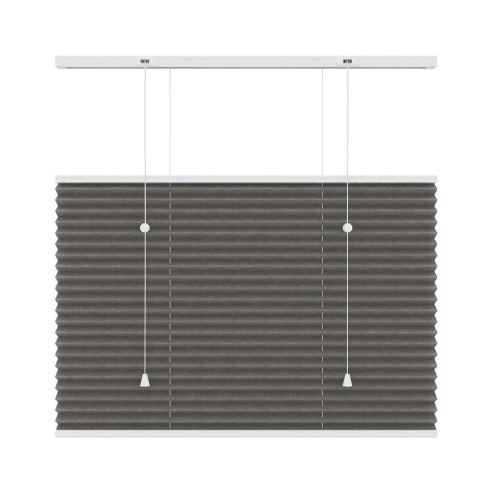Plisségordijn lichtdoorlatend top-down bottom-up - antraciet - 120x180 cm - Leen Bakker