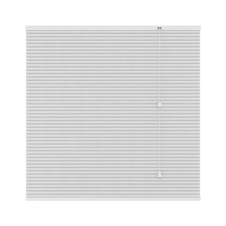 Plisségordijn duplistof verduisterend - wit - 180x180 cm
