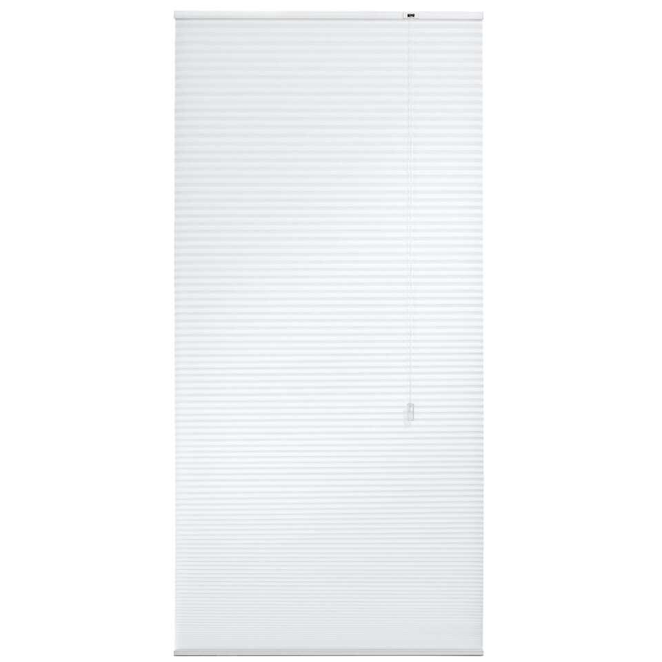 Plisségordijn duplistof lichtdoorlatend - wit - 60x180 cm