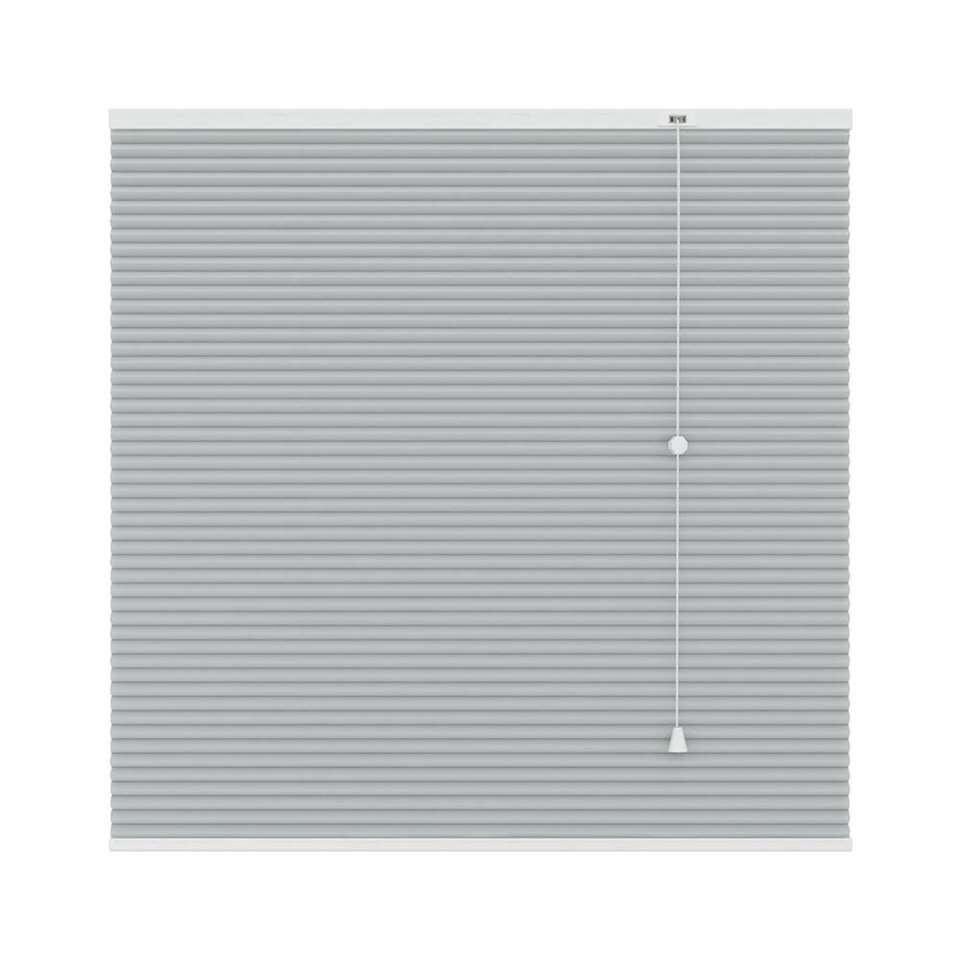 Plisségordijn duplistof lichtdoorlatend - lichtgrijs - 100x180 cm - Leen Bakker
