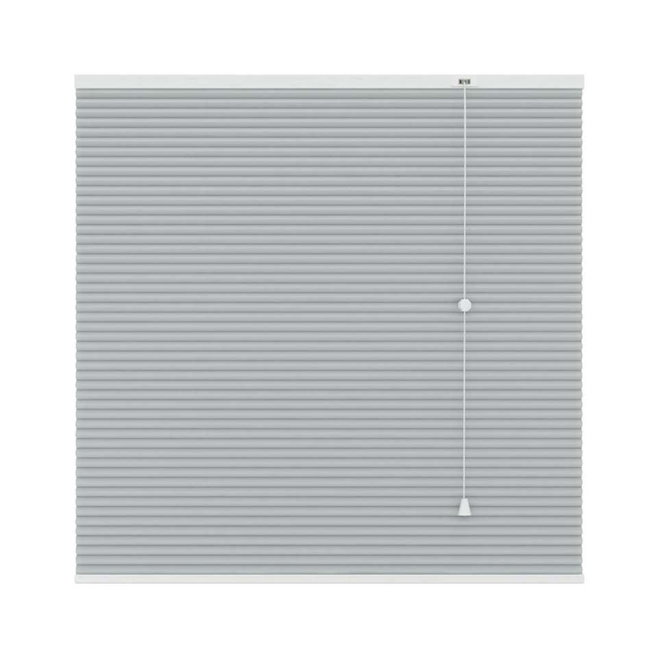 Plisségordijn duplistof lichtdoorlatend - lichtgrijs - 100x180 cm
