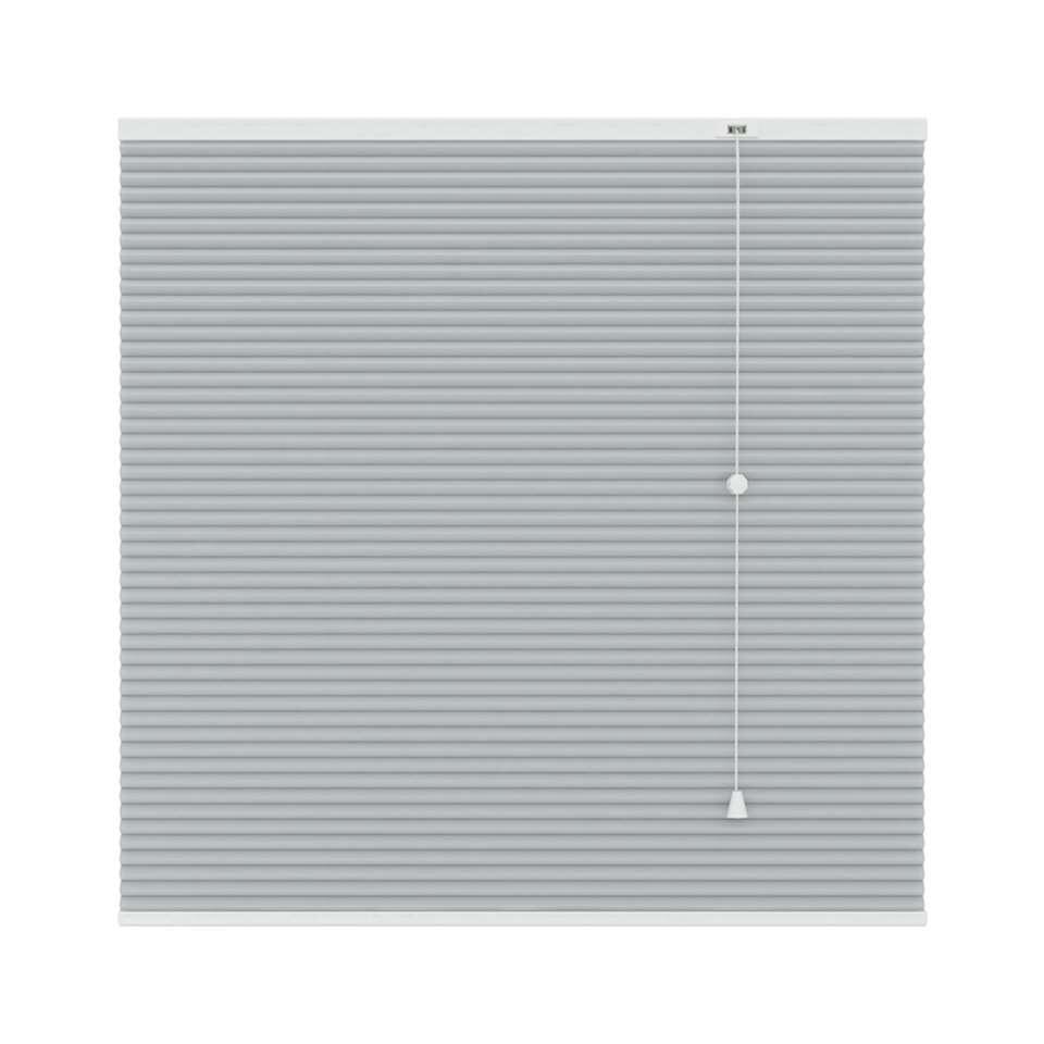 Plisségordijn duplistof lichtdoorlatend - lichtgrijs - 160x220 cm