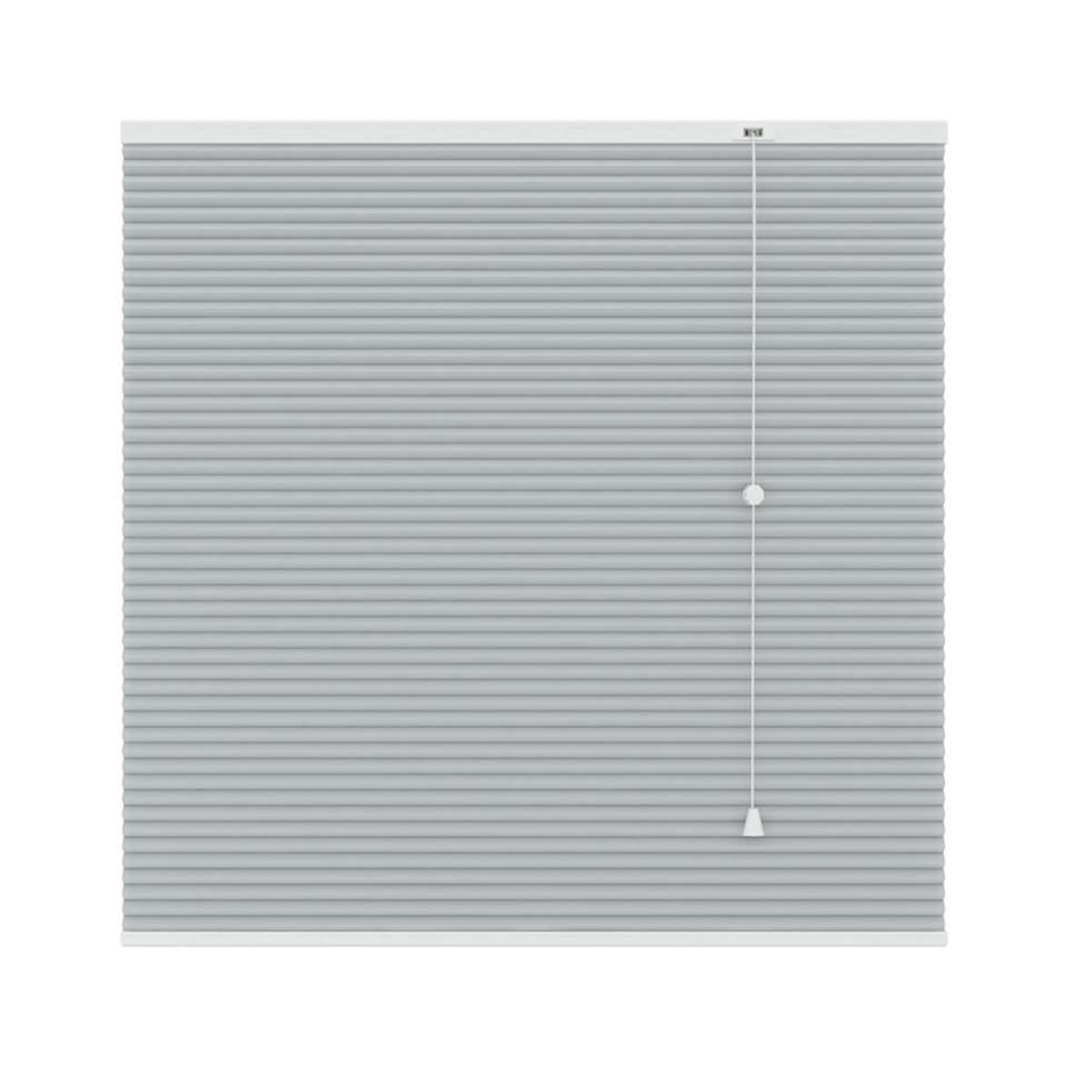Plisségordijn duplistof lichtdoorlatend - lichtgrijs - 180x180 cm