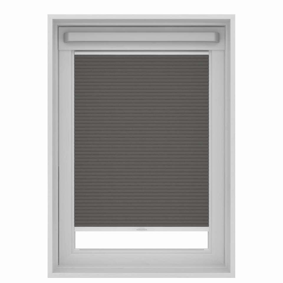 Dakraamplisségordijn verduisterend – grijs – MK06 – 78×118 cm – Leen Bakker